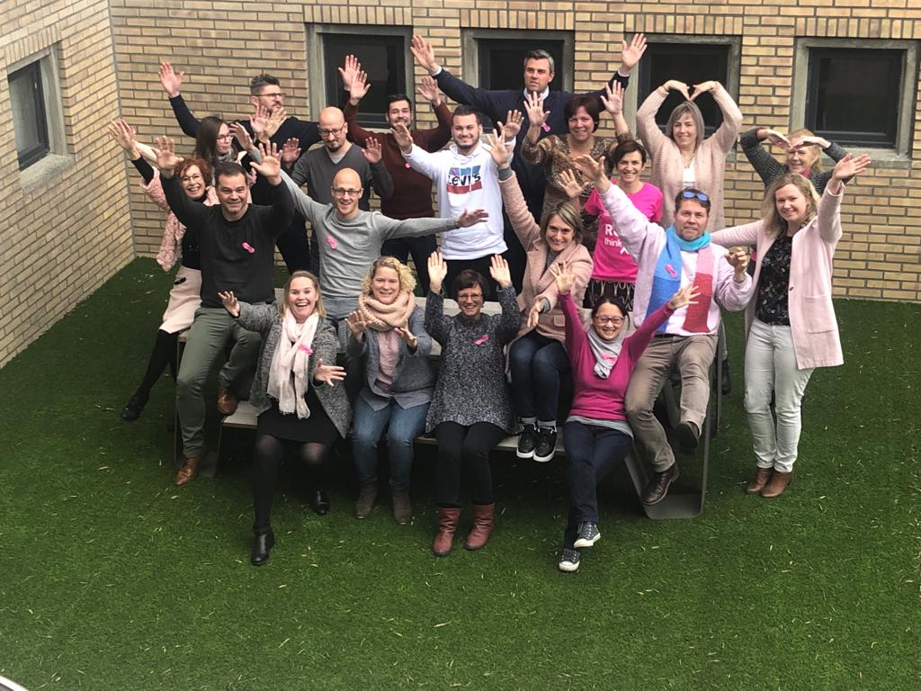 MOLENBERGNATIE BELGIUM CELEBRATES PINK MONDAY TO SUPPORT BREAST CANCER SURVIVORS
